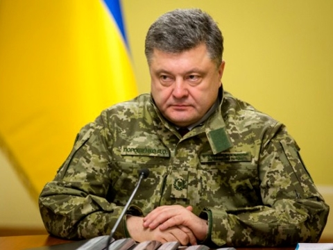 President Poroshenko signs law reducing retirement age for ATO participants