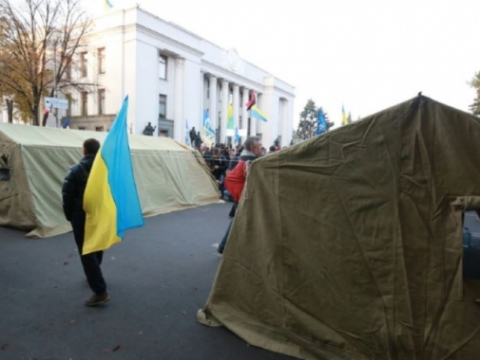 Tents of protesters near Verkhovna Rada won't be pulled down
