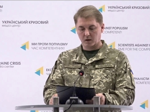 Oleksandr Motuzyanyk: 40 rockets launched by militants